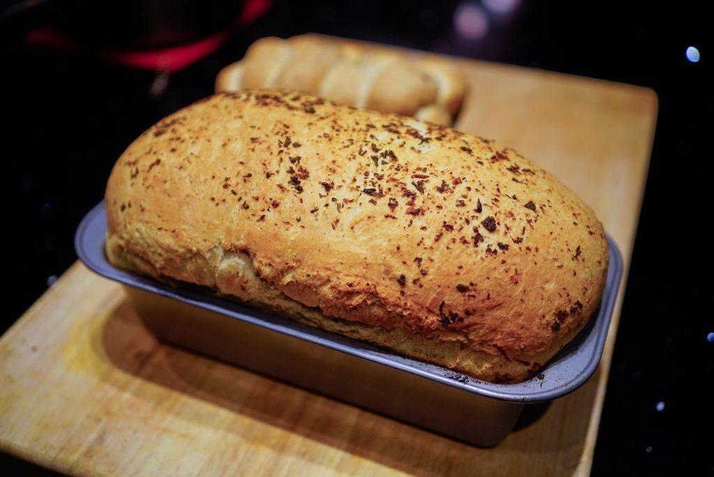 Fresh Herb & Cheese bread by Gerard Marquez